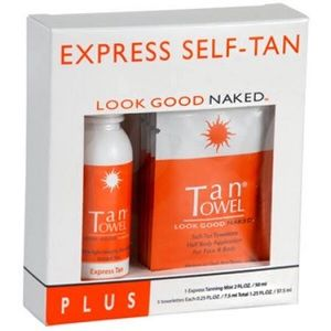 NIB TanTowel Express Self-Tan Kit
